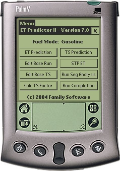 Family Software ET Predictor II Software - Palm OS 4.1